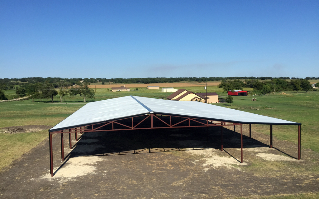 Covered Arena with Roping Chutes